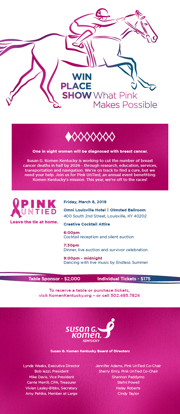 2019 Pink UnTied Invitation