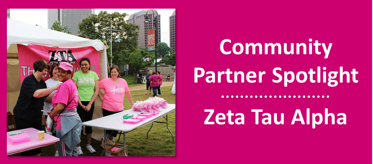 2014 March - Community Partner Spotlight - Zeta Tau Alph