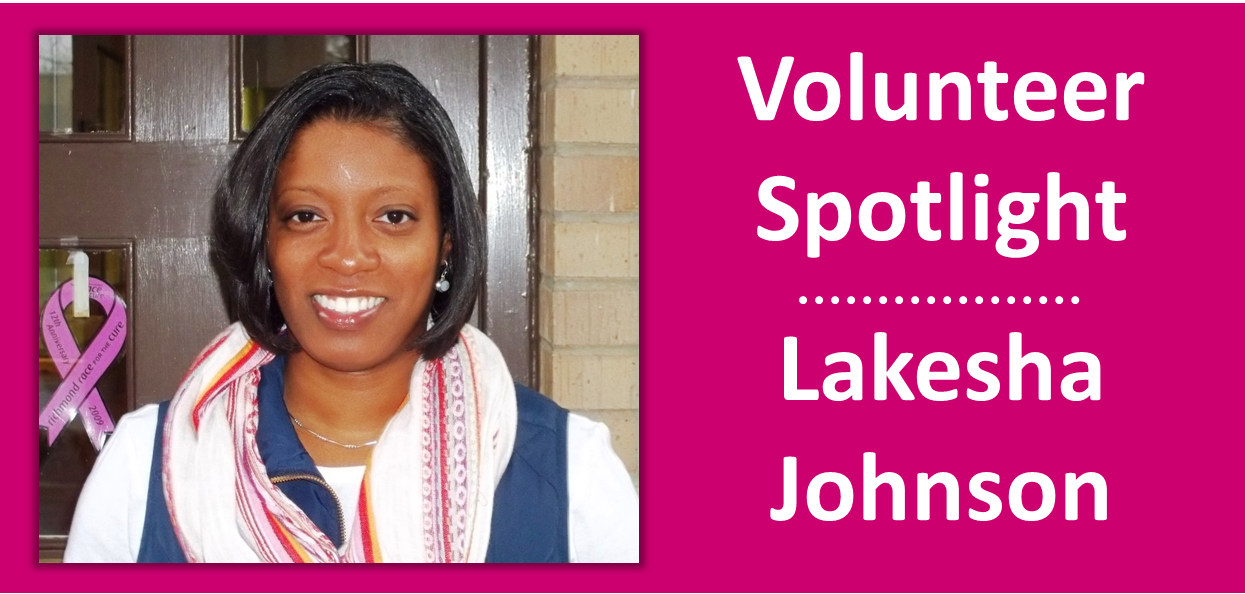 2015 January - Volunteer Spotlight - Lakesha Johnson
