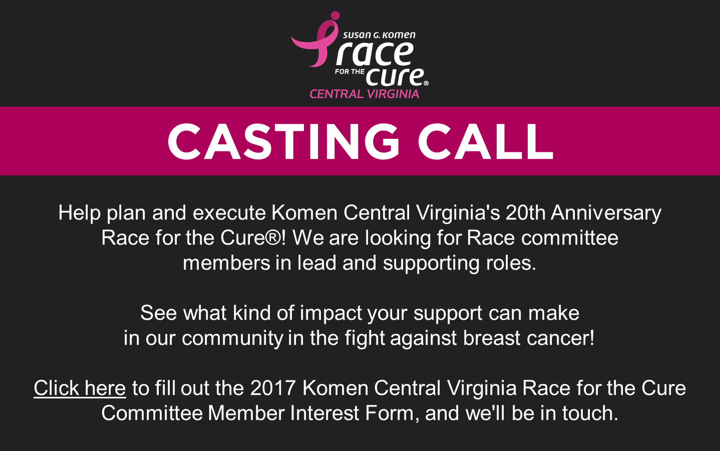2017 Race Casting Call