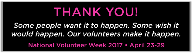 2017 volunteer appreciation week