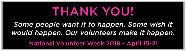 2018 volunteer appreciation week