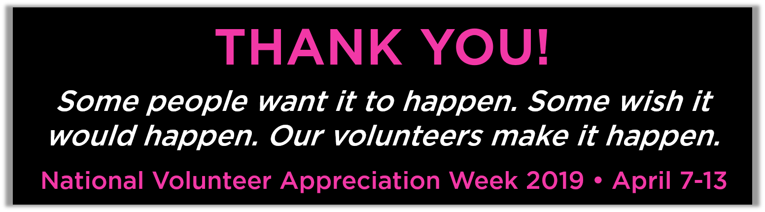 2019 volunteer appreciation week