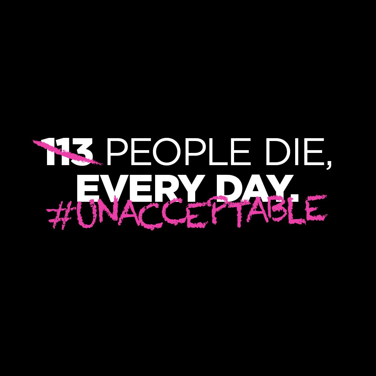 113 die each day