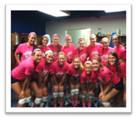 UT of Martin Volleyball team goes Passionately Pink!