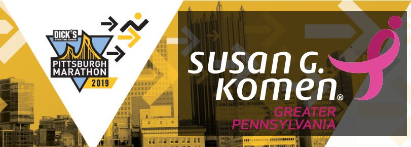 pittsburgh marathon 2019 - run for a reason - team komen