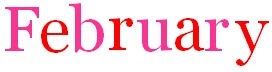 February logo