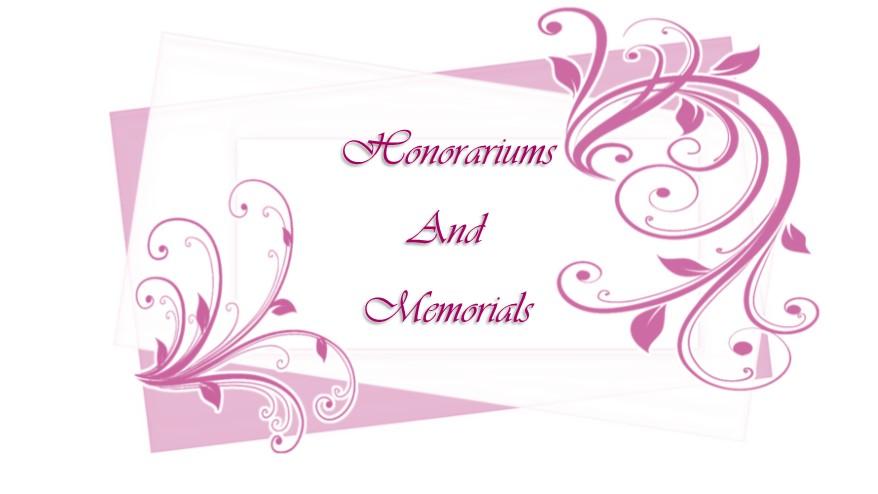 Honorariums and Memorials logo