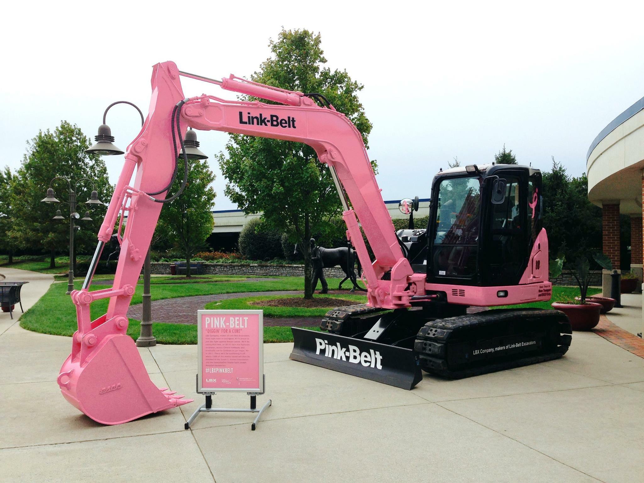LBX pink excavator