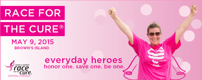 2015 Race - everyday heroes banner with lady