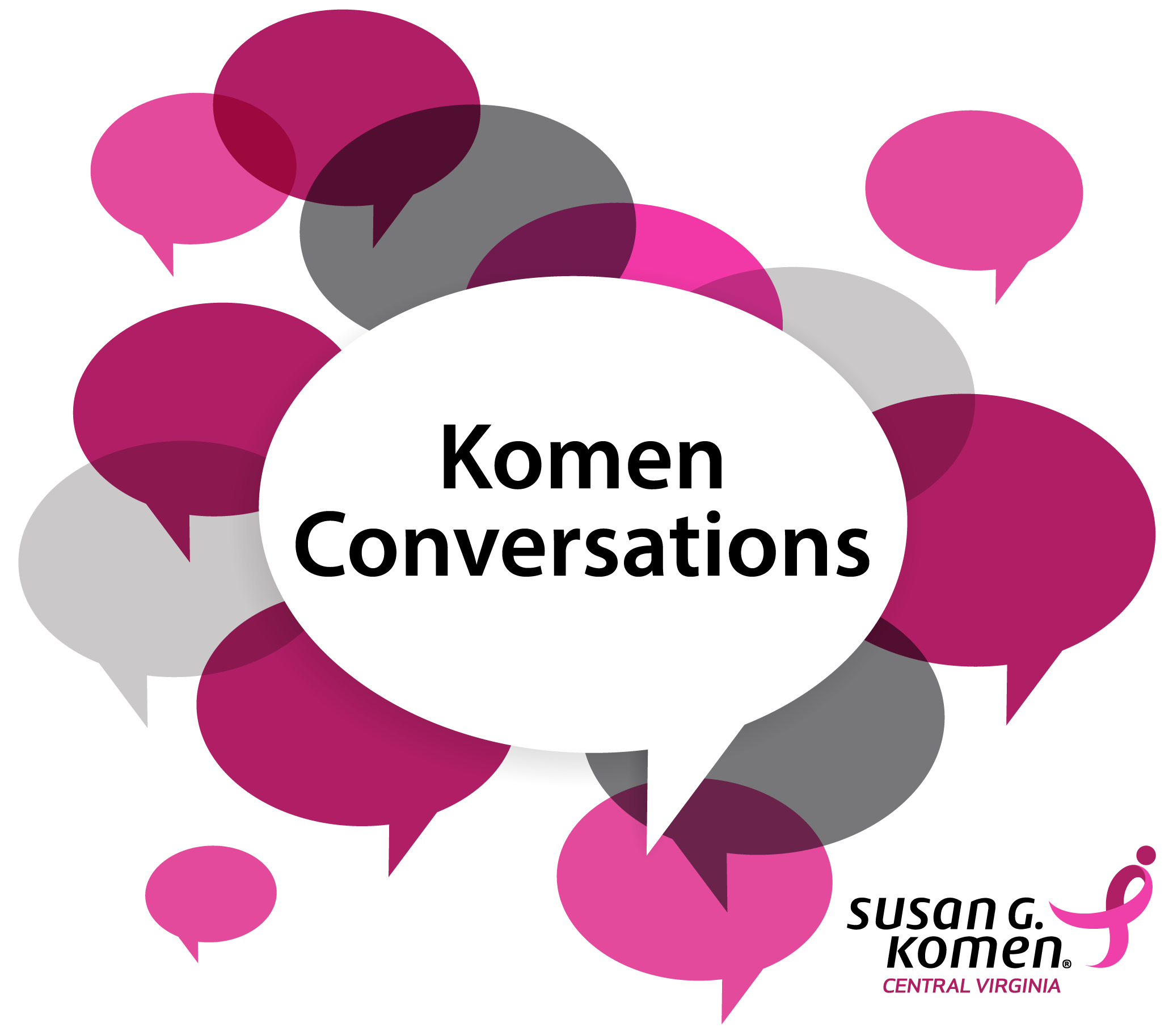 Komen Conversations square logo with white background