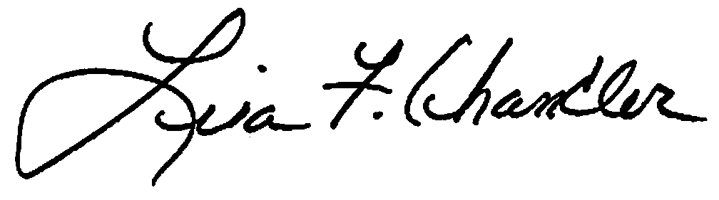 Lisa Chandler signature