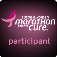 Marathon fundraising badge