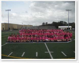 peopl in pink tshirts