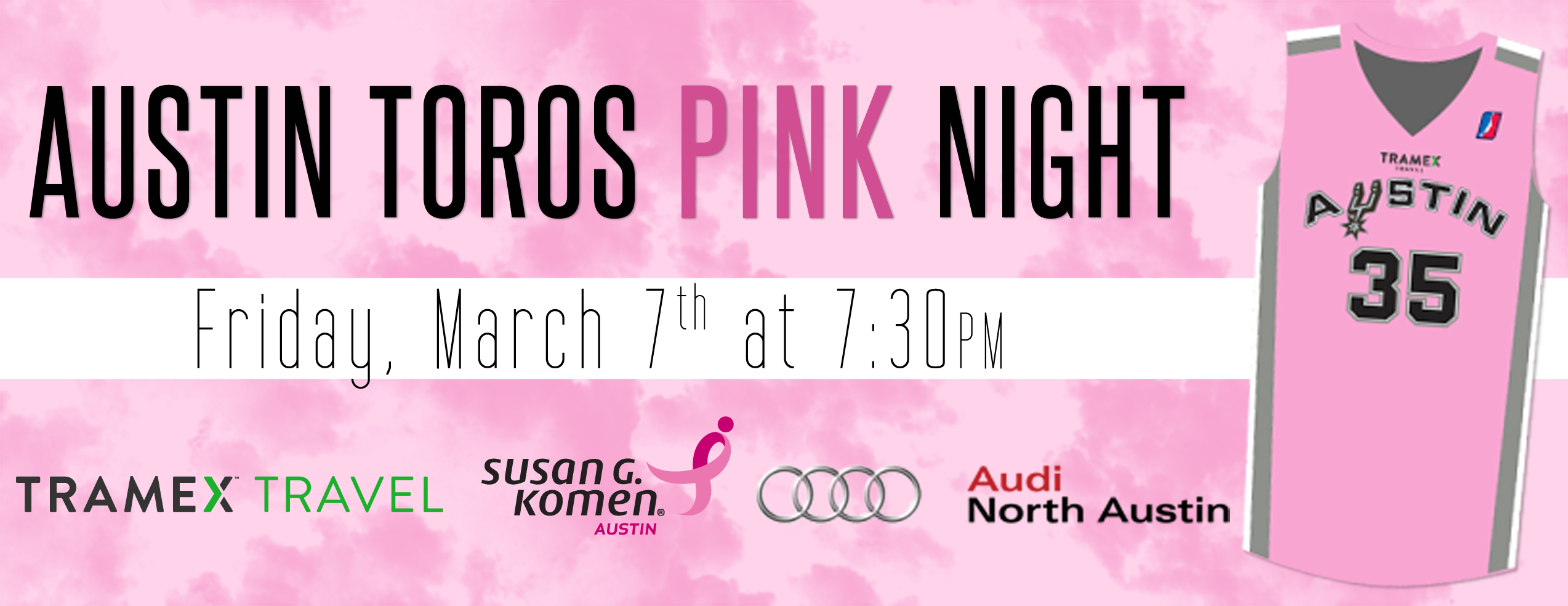 Austin Toros Pink Night Header