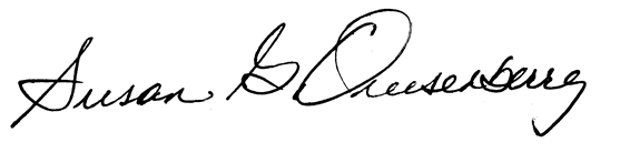 Susan Quisenberry signature