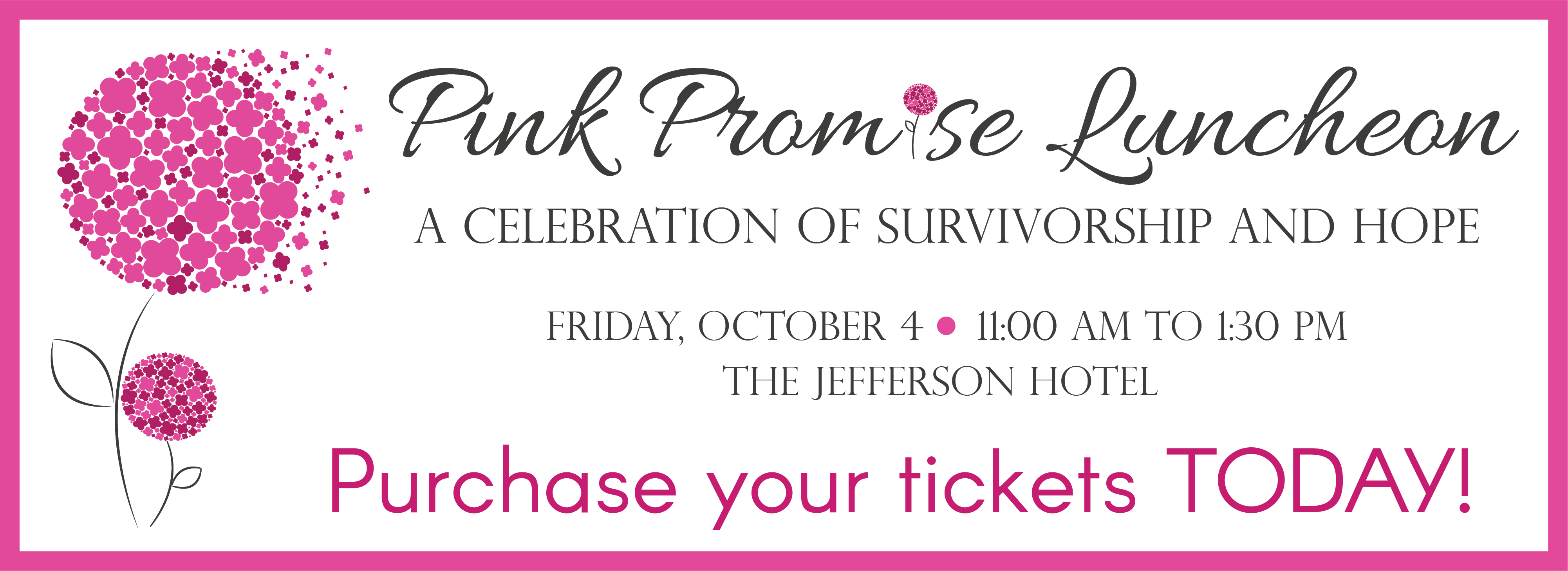 2019 Pink Promise Luncheon banner