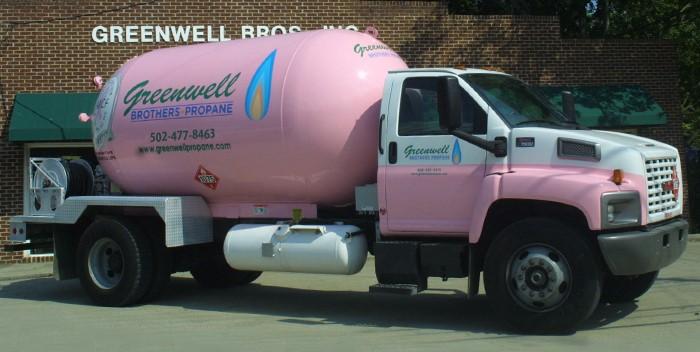greenwell pink truck