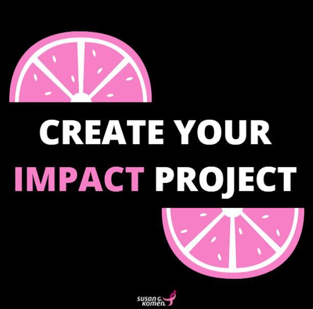 impact project, DIY fundraising