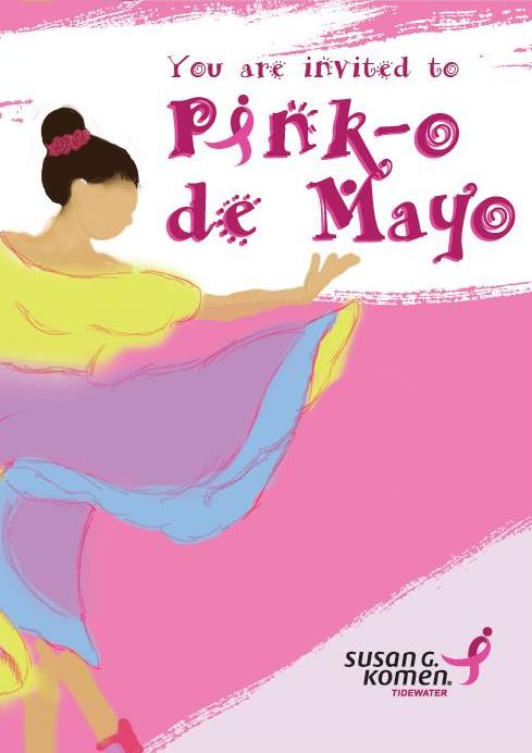 Pink-o de mayo invitation