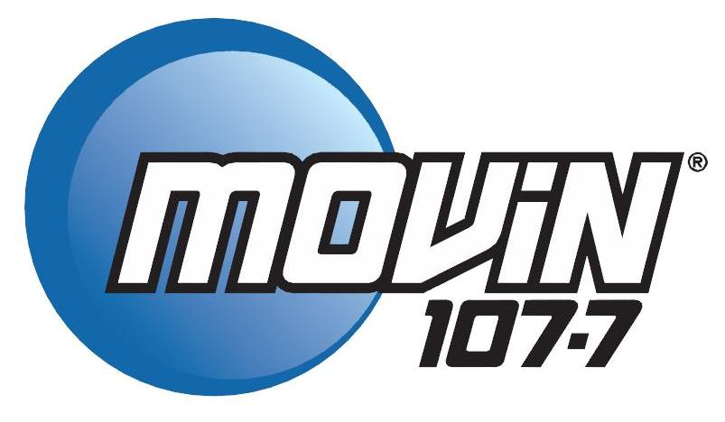 movin 107.7 logo