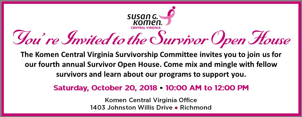 2018 Survivor Open House banner