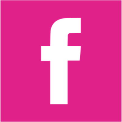 pink Facebook square icon - no background