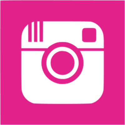 pink Instagram square icon - no background