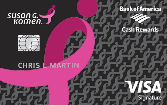 Bank of America Pink Ribbon Credit Card