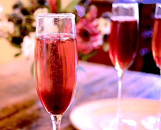 pink sparkling drinks