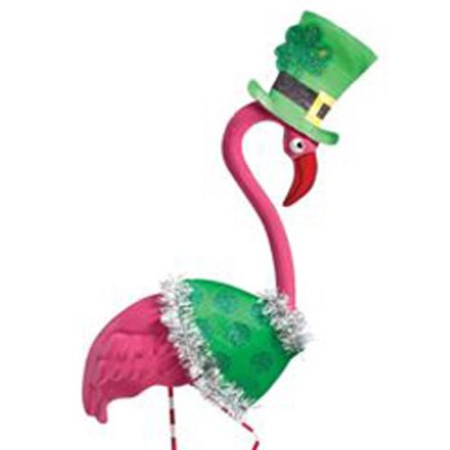 st Patrick's, pink Flamingo