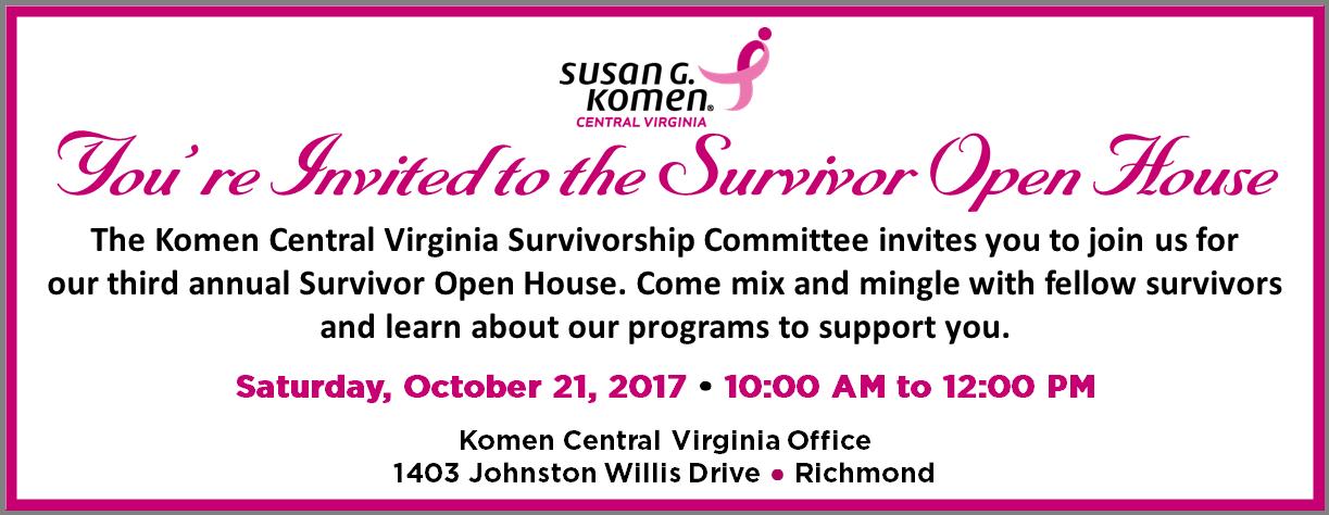 2017 Survivor Open House eblast banner