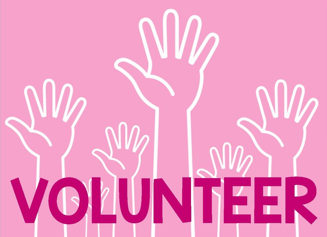 pink hands volunteer